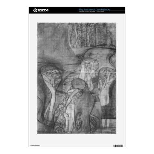 Composition draft of the law faculty image - Klimt Skin For The PS3
