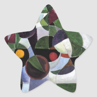 Composition I (Still life) by Theo van Doesburg Star Sticker