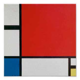 Composition II in Red, Blue, and Yellow - Mondrian Poster