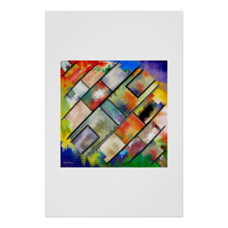 Composition in diagonal lines poster