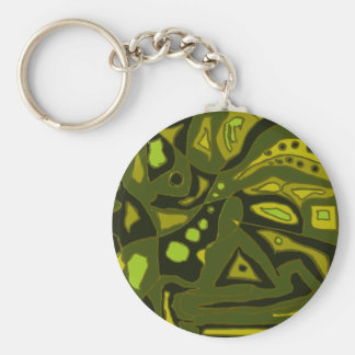 Composition in Green Keychain