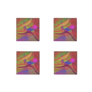 Composition Kandinsky Oriental Emulation Stone Magnet