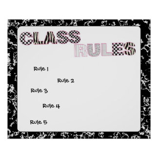Composition Notebook Classroom Rules Poster