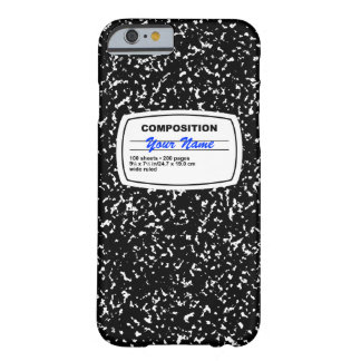 Composition Notebook Customizable Barely There iPhone 6 Case