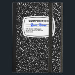 "Composition Notebook Customizable iPad Air Case<br><div class=""desc"">Traditional black and white composition notebook just like the ones you had back in school.</div>"