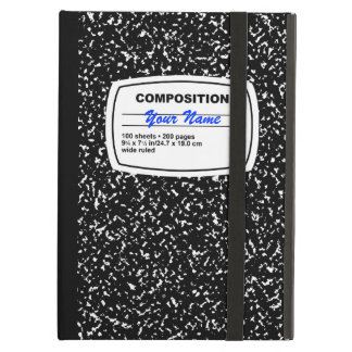 Composition Notebook Customizable iPad Air Case