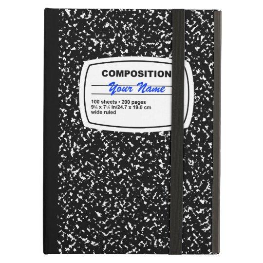 Composition Notebook Customizable iPad Air Case