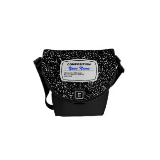 Composition Notebook Customizable Messenger Bag