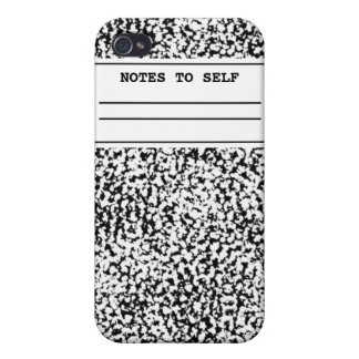 Composition Notebook Cover For iPhone 4