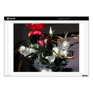 """Composition of flowers 17"""" laptop decal"""