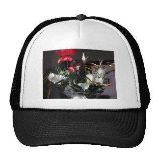 Composition of flowers trucker hat