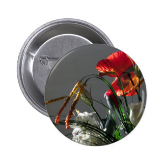 Composition of flowers pinback button