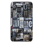 Composition of letterpress blocks iPod touch Case-Mate case