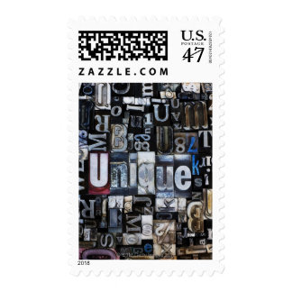 Composition of letterpress blocks stamp