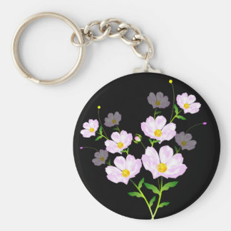 Composition Of Pink Flowers, Keychain