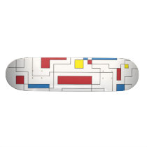 Composition of Red, Yellow, & Blue Skateboard