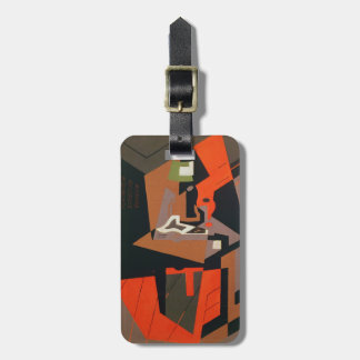 Composition (oil on canvas) luggage tag