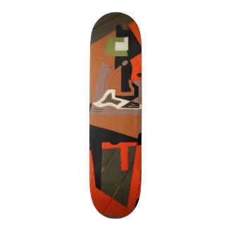 Composition (oil on canvas) skateboard deck