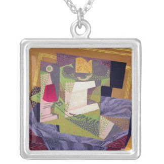 Composition on a Table, 1916 Square Pendant Necklace