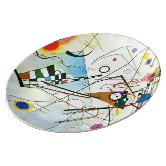 Composition VIII by Wassily Kandinsky Porcelain Plate