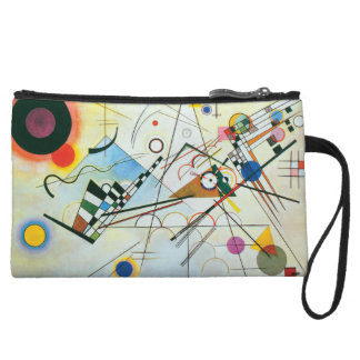 Composition VIII by Wassily Kandinsky Wristlet Wallet