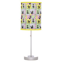 Composition with 5 Black Cats Table Lamp