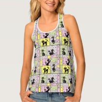 Composition with 5 Black Cats Tank Top