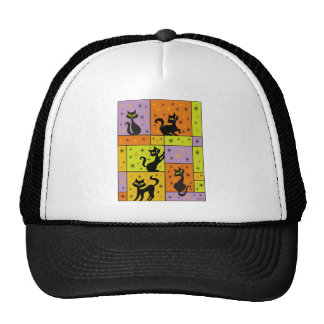 Composition with 5 Black Cats Trucker Hat