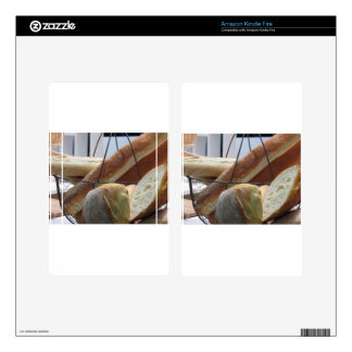 Composition with different types of baked bread kindle fire skin