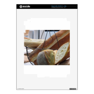Composition with different types of baked bread skin for iPad 2