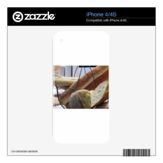 Composition with different types of baked bread skin for iPhone 4S