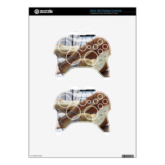 Composition with different types of baked bread xbox 360 controller decal