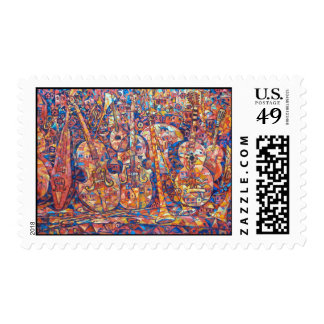 Composition with musical instruments Postage