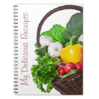 Composition With Raw Vegetables And Wicker Basket Notebook