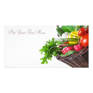 Composition With Raw Vegetables Card