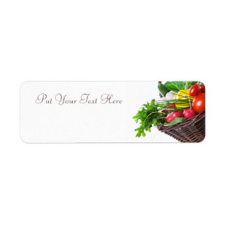 Composition With Raw Vegetables Label