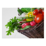 Composition With Raw Vegetables Poster