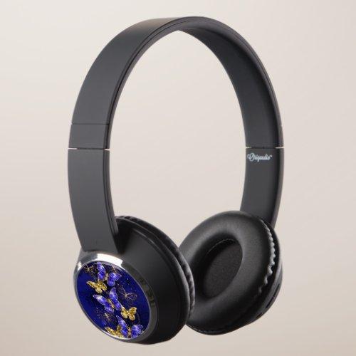 Composition with Sapphire Butterflies Headphones