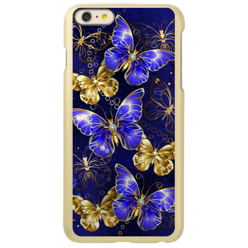 Composition with Sapphire Butterflies Incipio Feather Shine iPhone 6 Plus Case