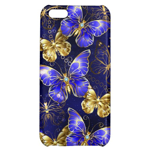 Composition with Sapphire Butterflies Case For iPhone 5C