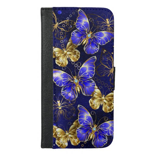 Composition with Sapphire Butterflies iPhone 6/6s Plus Wallet Case