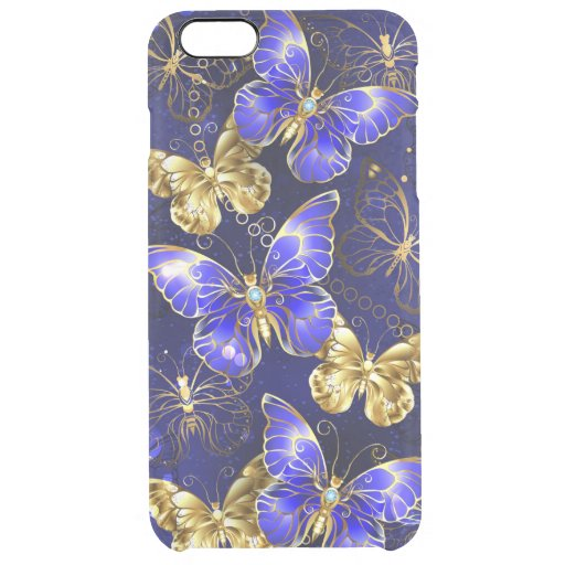 Composition with Sapphire Butterflies Clear iPhone 6 Plus Case