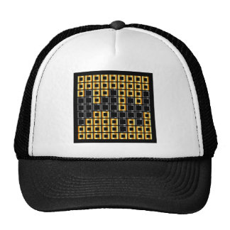 composition with squares trucker hat