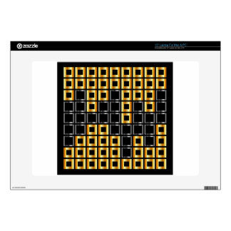 composition with squares laptop decal