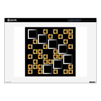 composition with squares skin for laptop