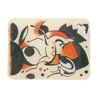 Composition with Two Deer by Franz Marc Magnet