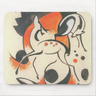 Composition with Two Deer by Franz Marc Mouse Pad
