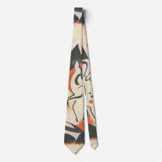 Composition with Two Deer by Franz Marc Neck Tie