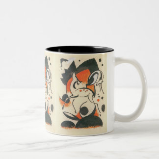 Composition with Two Deer by Franz Marc Two-Tone Coffee Mug