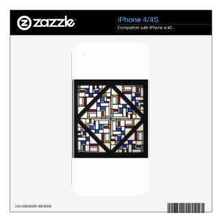 Composition with window with coloured glass III Decal For The iPhone 4S